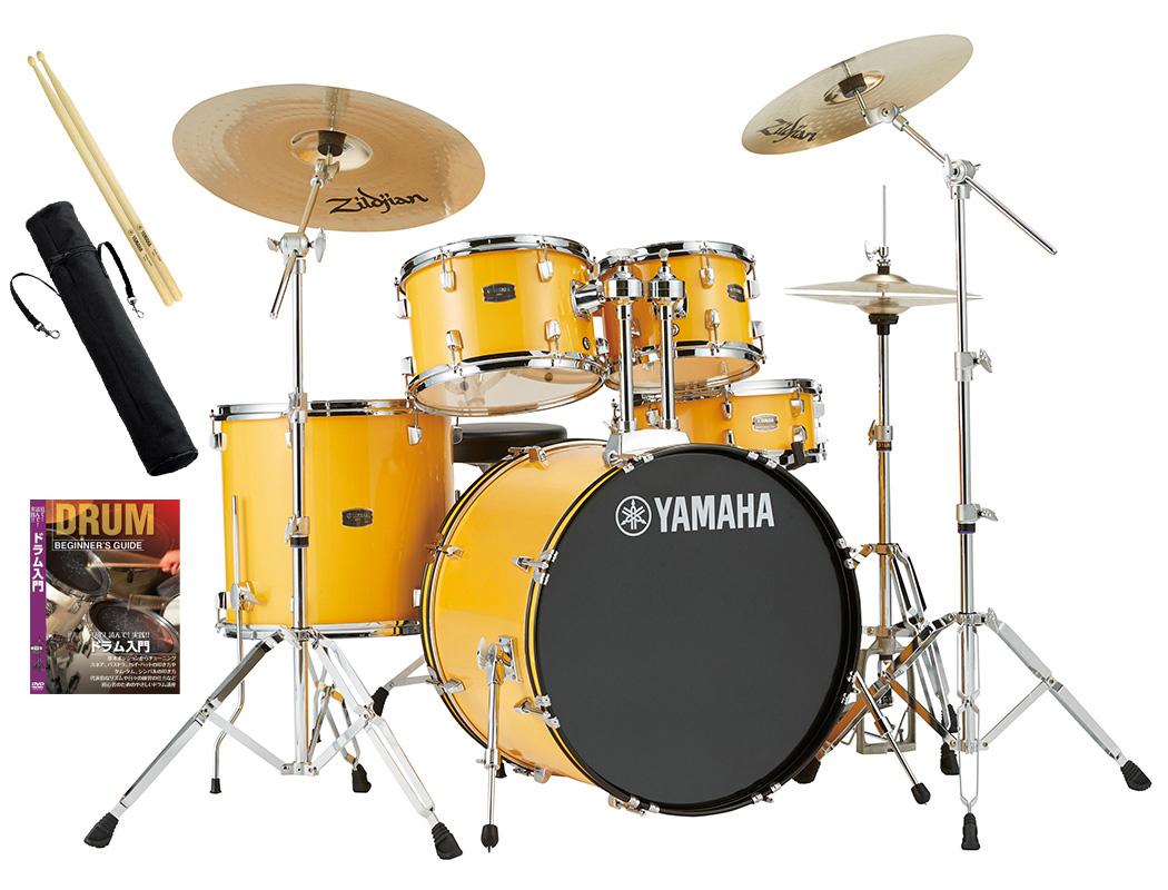YAMAHA / RDP2F5STD YLメローイエロー ヤマハ ライディーン 22BD ドラムセット シンバル付きフルセット【YRK】