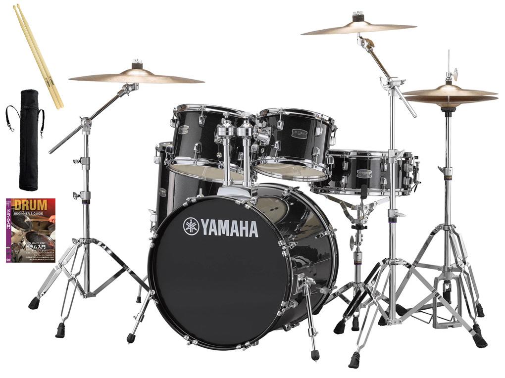 YAMAHA / RDP0F5STD BLGブラックグリッター ヤマハ ライディーン 20BD ドラムセット ジルジャンシンバル付きフルセット【YRK】
