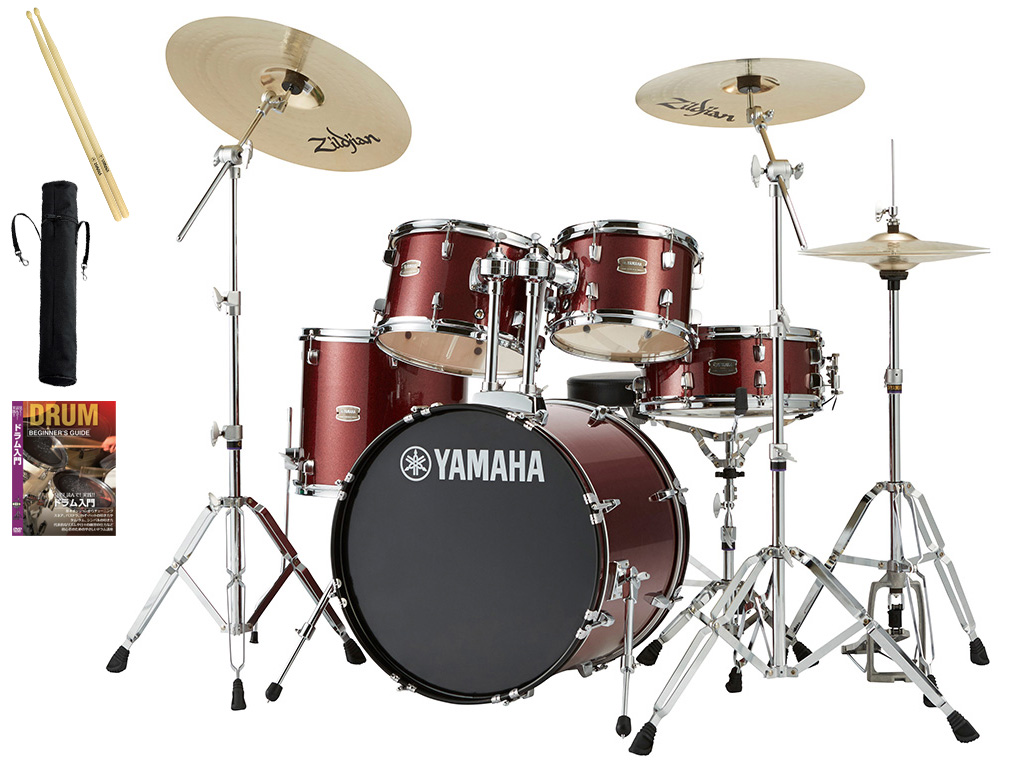 YAMAHA / RDP0F5STD BGGバーガンディグリッター ヤマハ ライディーン 20BD ドラムセット ジルジャンシンバル付きフルセット【YRK】