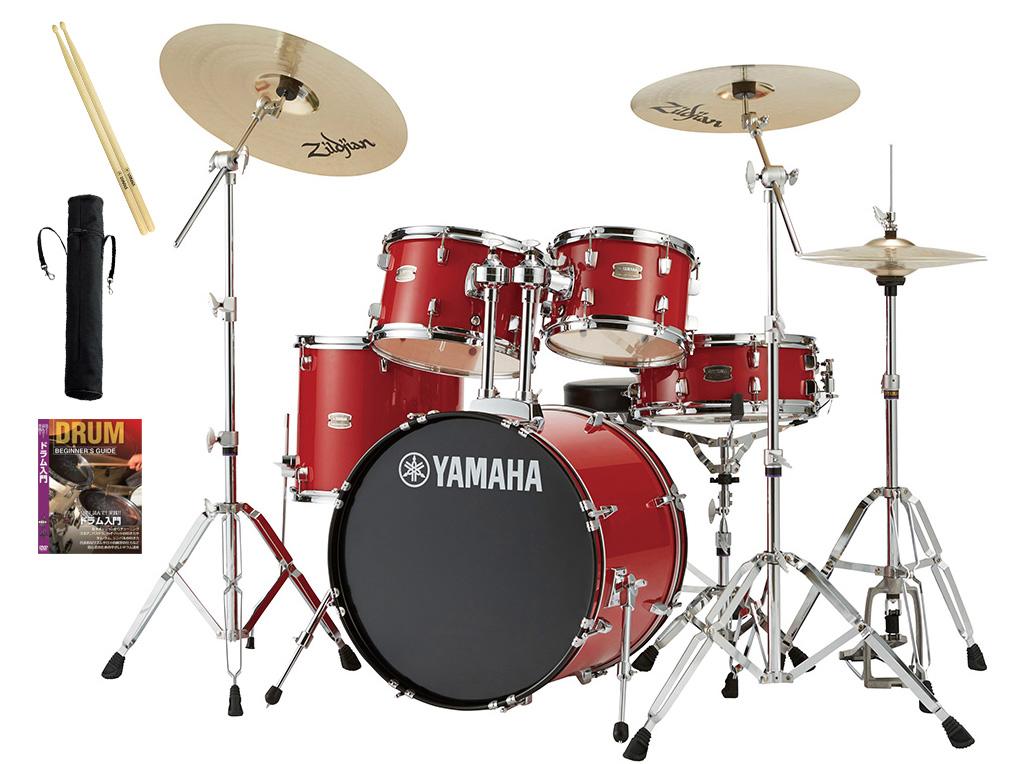 YAMAHA / RDP0F5STD RDホットレッド ヤマハ ライディーン 20BD ドラムセット シンバル付きフルセット【YRK】