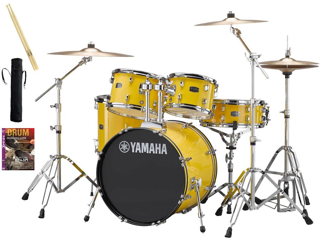 YAMAHA / RDP0F5STD YLメローイエロー ヤマハ ライディーン 20BD ドラムセット シンバル付きフルセット【YRK】