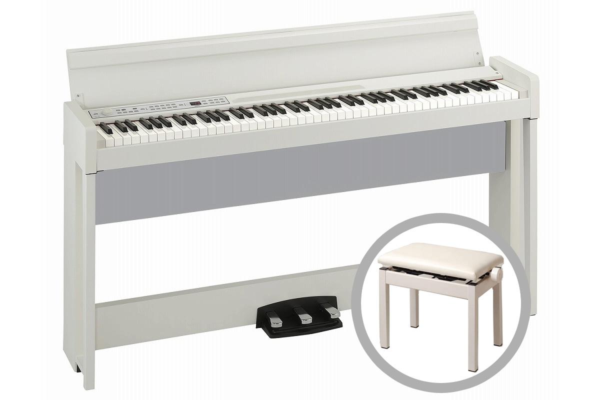 《予約注文/納期未定:別途ご案内》KORG コルグ / C1 Air WH (ホワイト) 【高低自在椅子セット!】デジタル・ピアノ【PNG】《お手入れセットプレゼント:681018000+671044200》