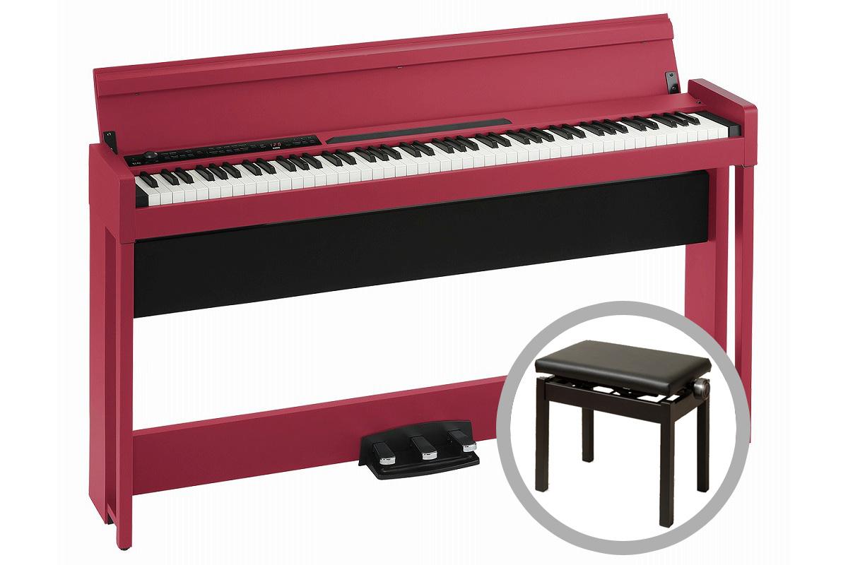 《予約注文/納期未定:別途ご案内》KORG コルグ / C1 Air RD (レッド) 【高低自在椅子セット!】デジタル・ピアノ【PNG】《お手入れセットプレゼント:681018000+671044200》
