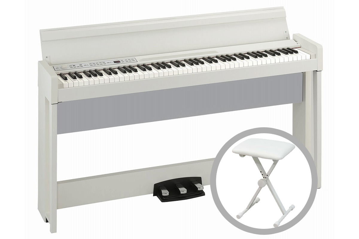 KORG コルグ / C1 Air WH (ホワイト) 【椅子セット!】デジタル・ピアノ【PNG】【お手入れセットプレゼント:811169500】