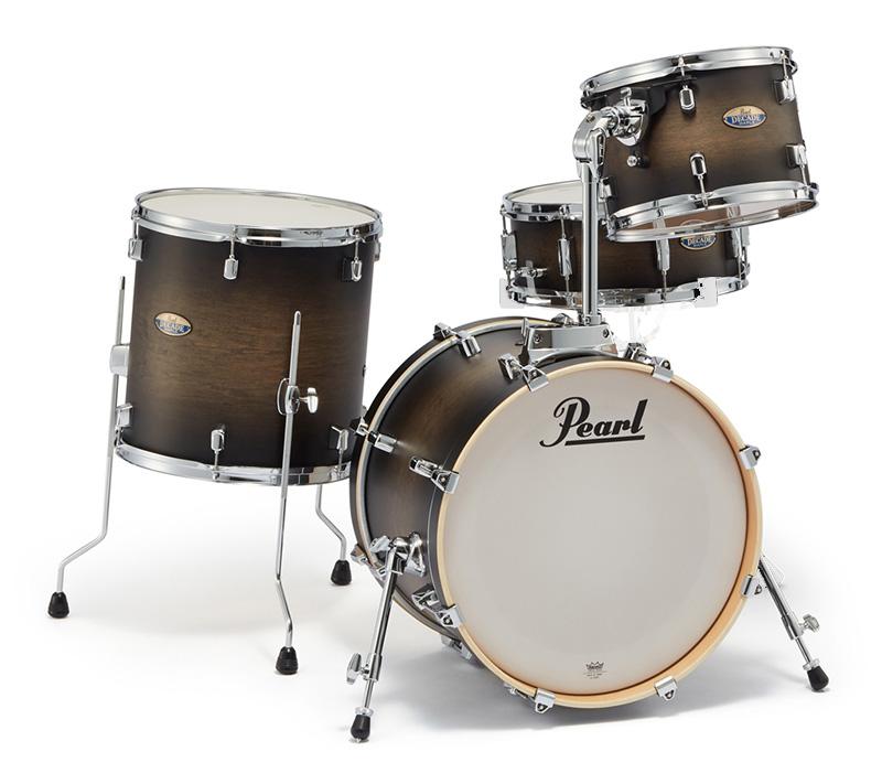 Pearl ドラムシェルキット DMP984P/C 262-Satin Black Burst パール DECADE Maple BOP CLUB KIT 18BD【お取り寄せ商品】