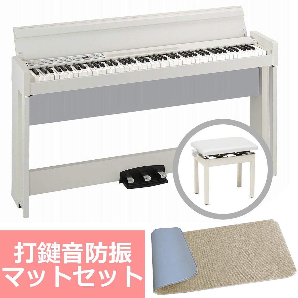 《予約注文/納期未定:別途ご案内》KORG コルグ / C1 Air WH (ホワイト) 【防振マットセット!】デジタル・ピアノ【PNG】《お手入れセットプレゼント:681018000+671044200》