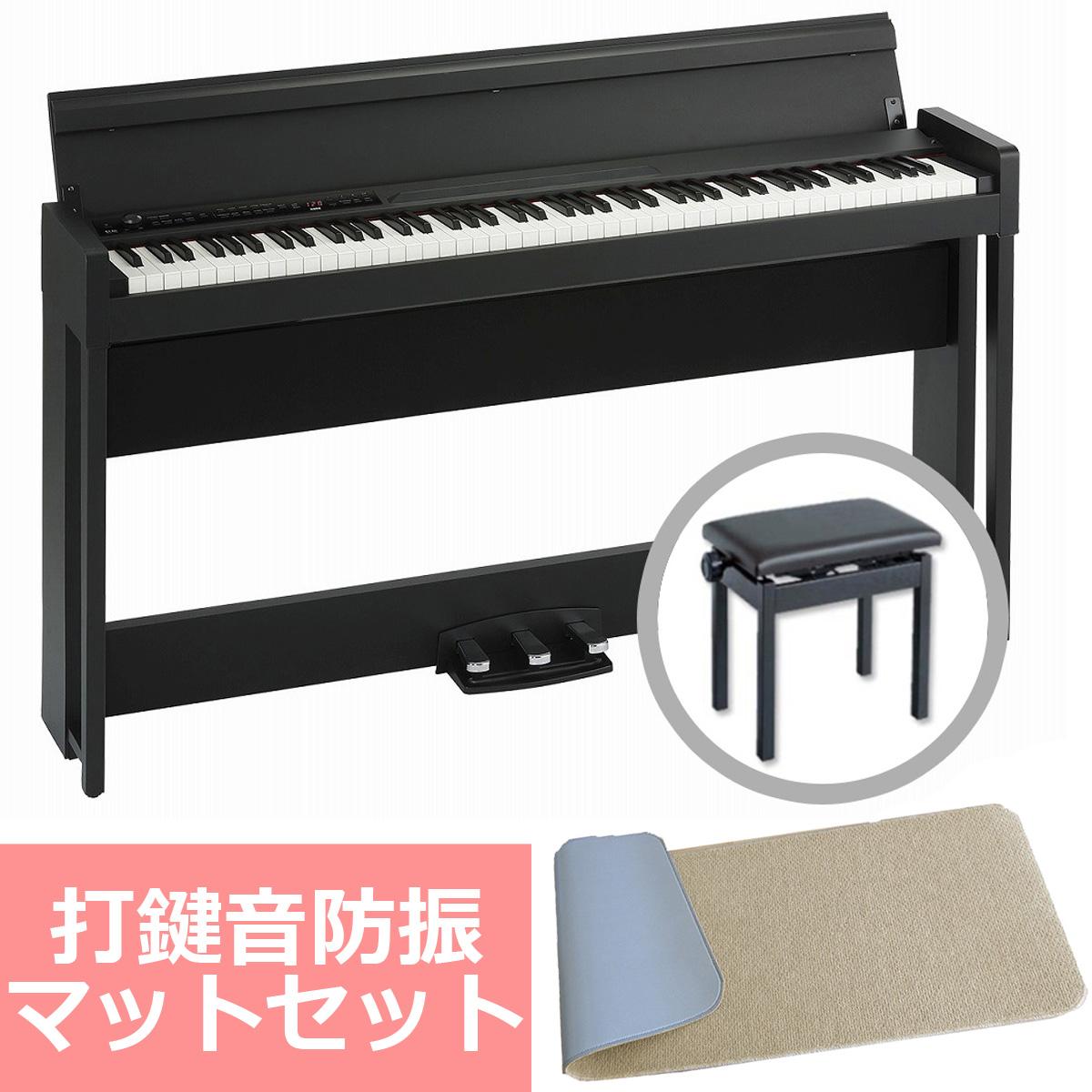 KORG コルグ / C1 Air BK (ブラック) 【防振マットセット!】デジタル・ピアノ【YRK】