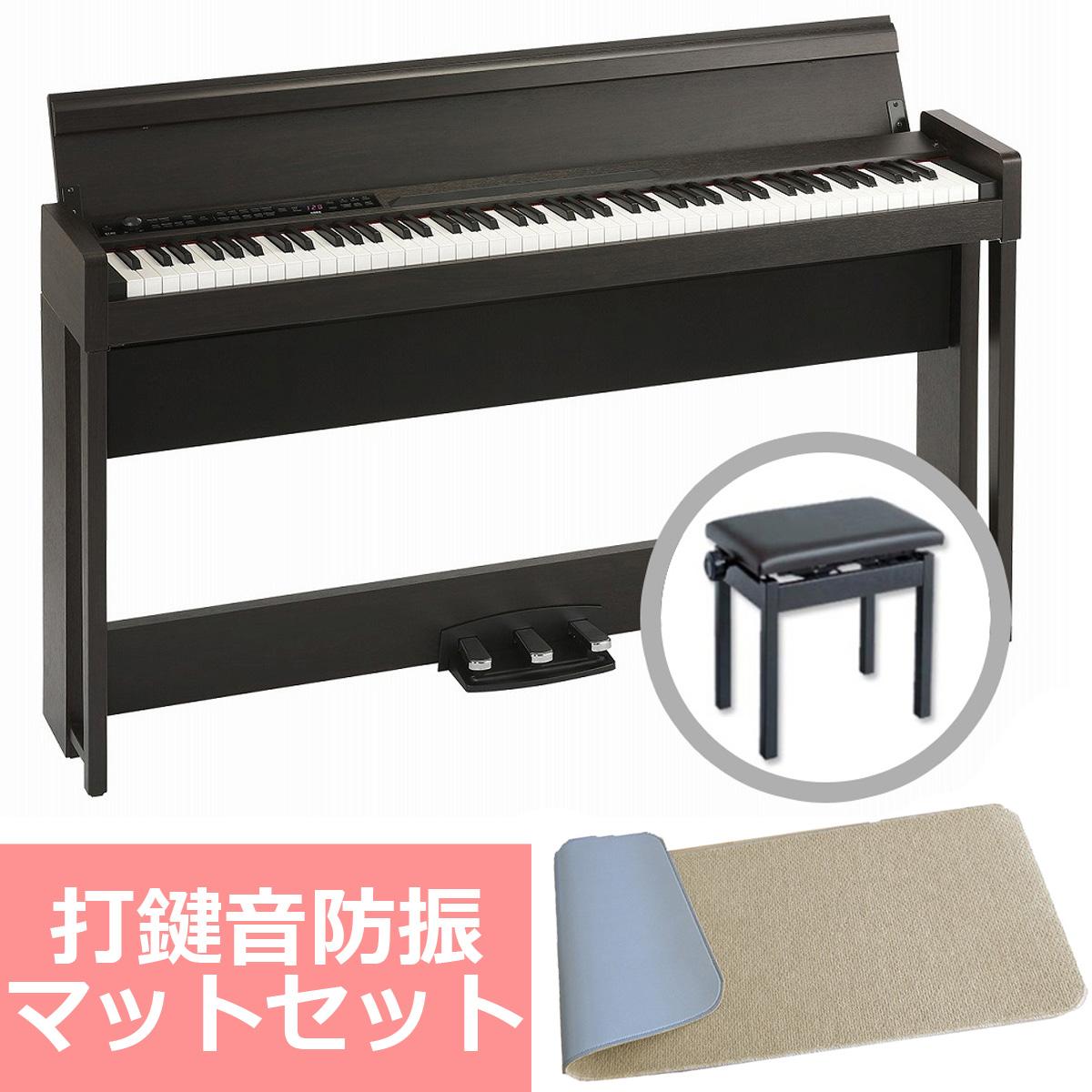 《予約注文/納期未定:別途ご案内》KORG コルグ / C1 Air BR (ブラウン) 【防振マットセット!】デジタル・ピアノ【PNG】《お手入れセットプレゼント:681018000+671044200》