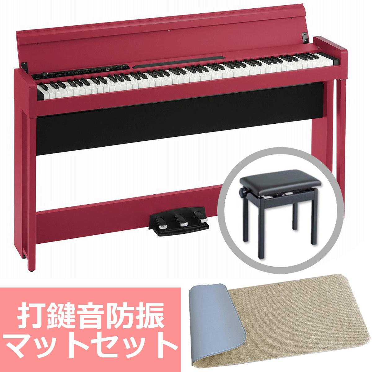 KORG コルグ / C1 Air RD (レッド) 【防振マットセット!】デジタル・ピアノ【PNG】【お手入れセットプレゼント:811169500】