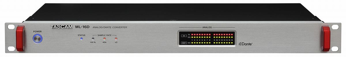 TASCAM タスカム / ML-16D 16ch Analog/Dante コンバーター【お取り寄せ商品】