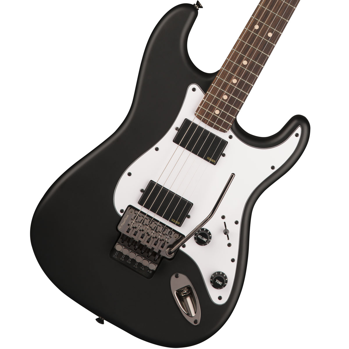 Squier by Fender / Contemporary Active Stratocaster HH Flat Black Rosewood