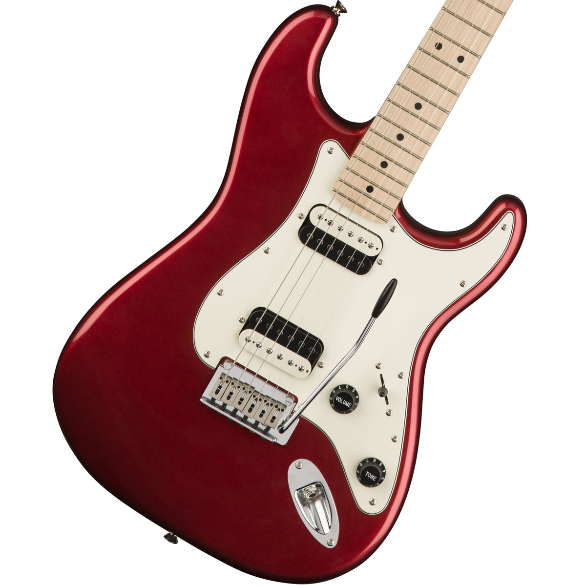 Squier by Fender / Contemporary Stratocaster HH Dark Metallic Red Maple