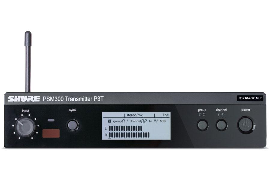 SHURE シュアー / P3T PSM 300 ワイヤレスステレオモニターシステム送信機【お取り寄せ商品】