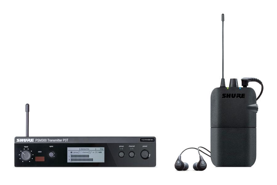 Shure シュアー / P3TR112GR PSM 300 イヤホン付ワイヤレスステレオモニターシステム【お取り寄せ商品】