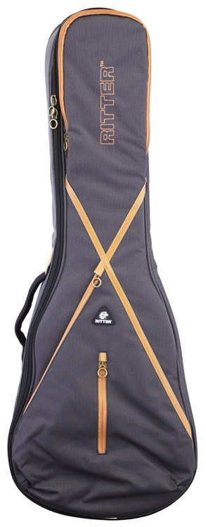 RITTER RGS7-L MGB(MISTY GREY/LEATHER BROWN) レスポールタイプ用ケース