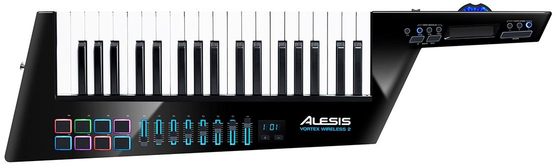 ALESIS アレシス / Vortex Wireless 2 ワイヤレスUSBショルダ・キーボード・コントローラ【お取り寄せ商品】【PNG】