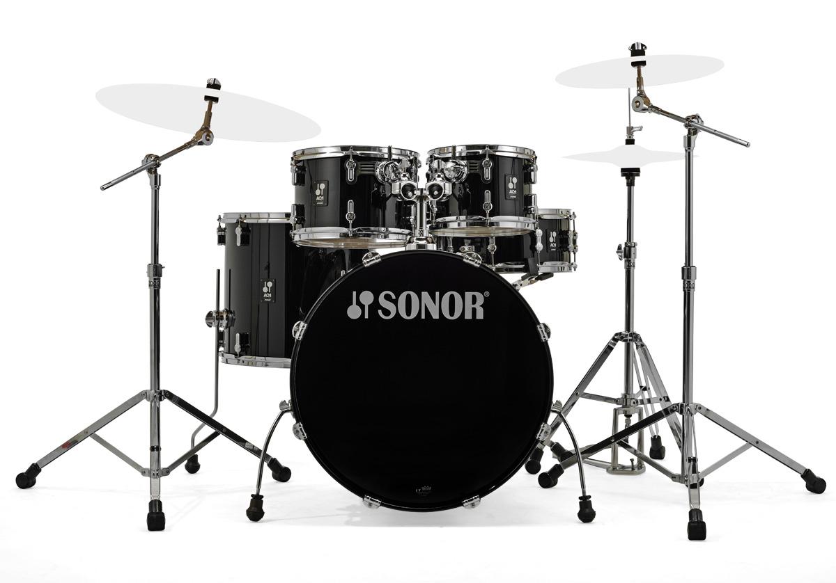 SONOR / SN-AQ1SG #PBピアノブラック ソナー ドラムセット AQ1 Stage Set 22BD スタンダードサイズ /シンバル別【お取り寄せ商品】