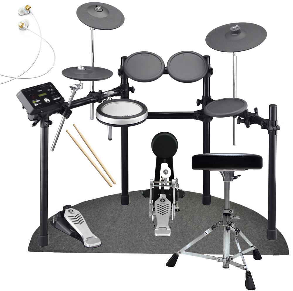 YAMAHA 電子ドラム DTX522KFS スタートセット 特製D型ドラムマットと純正イヤホン付きスターターパック【YRK】