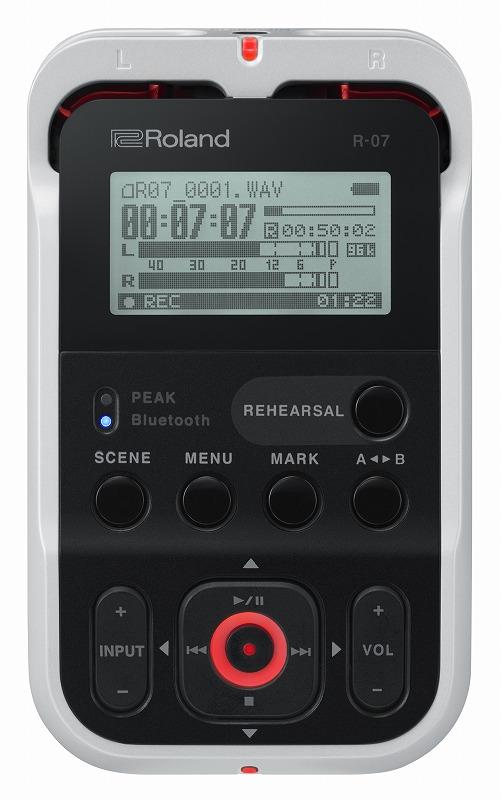 【在庫あり】Roland ローランド / R-07 WH ホワイトカラー オーディオ・レコーダー【YRK】