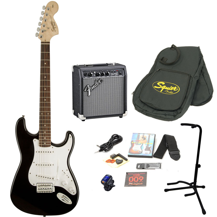 Squier by Fender / Affinity Stratocaster Black エレキギター 初心者16点セット フェンダーアンプSET
