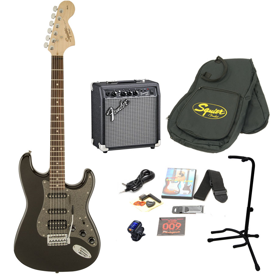 Squier by Fender / Affinity Stratocaster HSS Montego Black Metallic エレキギター 初心者16点セット フェンダーアンプSET