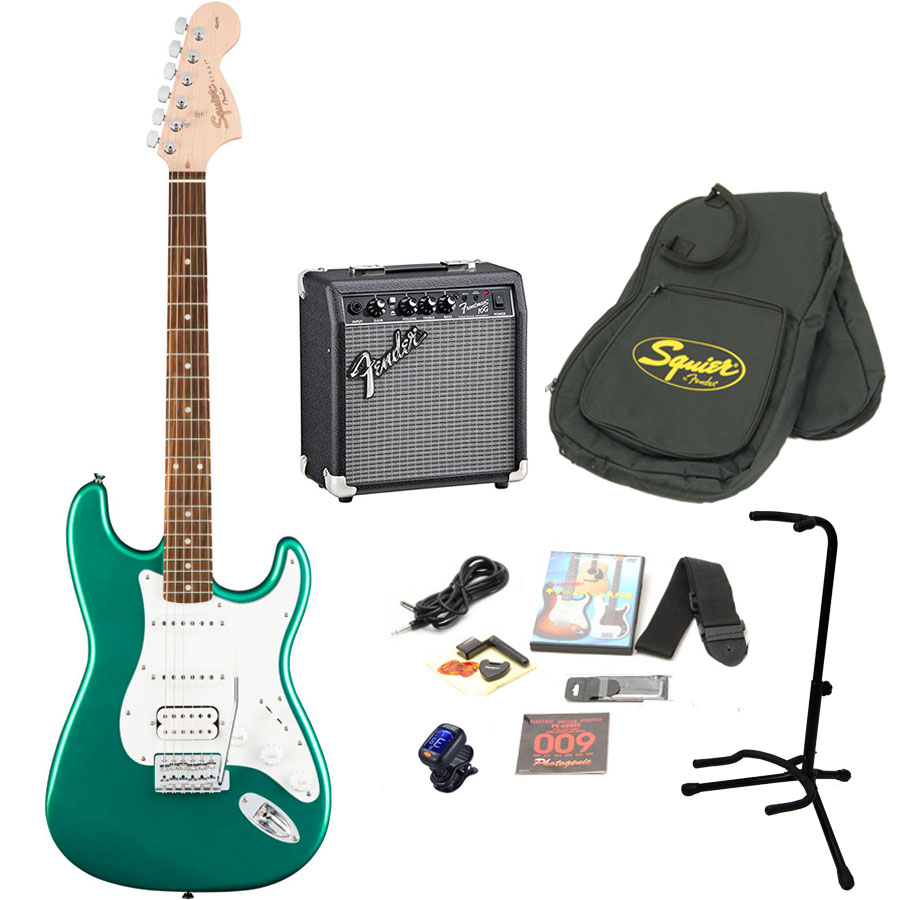 Squier by Fender / Affinity Stratocaster HSS Race Green エレキギター 初心者16点セット フェンダーアンプSET