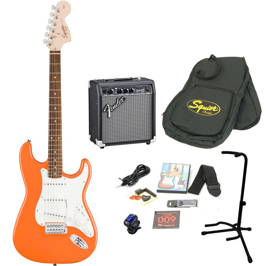Squier by Fender / Affinity Stratocaster Capri Orange エレキギター 初心者16点セット フェンダーアンプSET