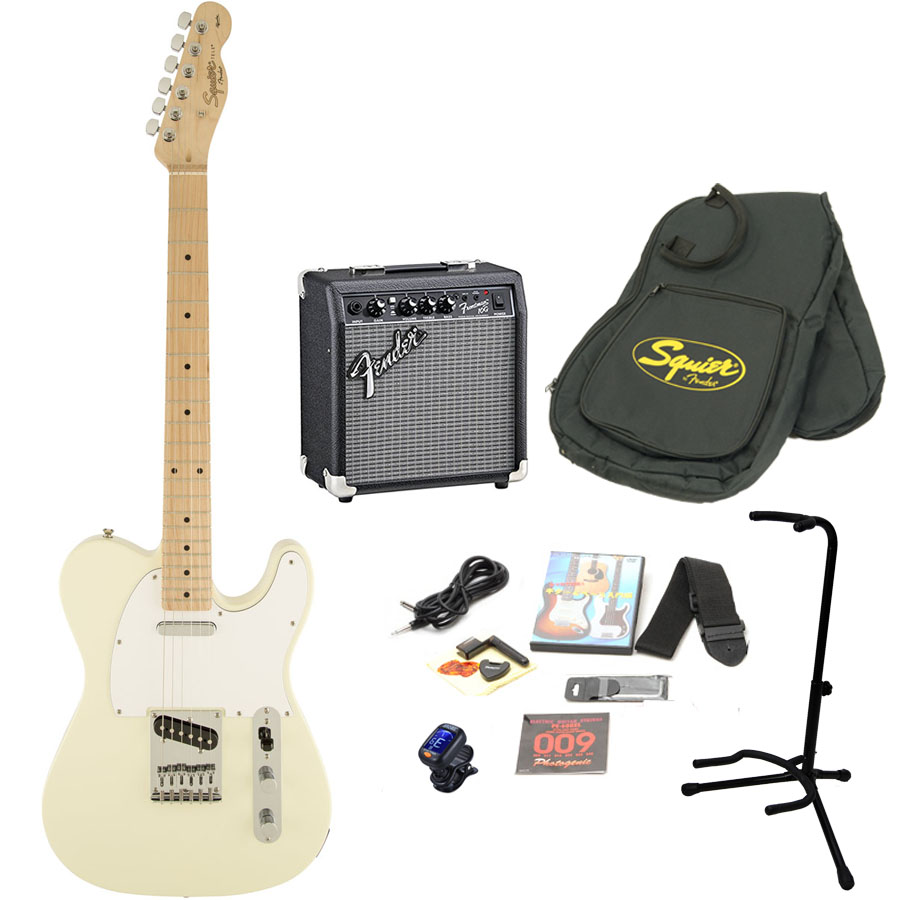 Squier by Fender / Affinity Telecaster Arctic White エレキギター 初心者15点セット フェンダーアンプSET