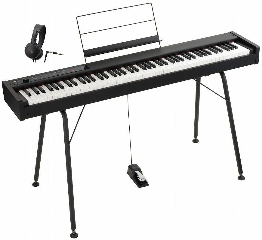 KORG コルグ / DIGITAL PIANO D1 【スタンド&オーディオテクニカ製ヘッドホンセット!】 デジタル・ピアノ【YRK】《数量限定ワイヤレスヘッドホンプレゼント》