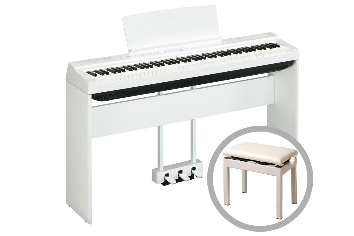 YAMAHA ヤマハ / 電子ピアノ P-125 WH【オプション&椅子セット】ホワイト(P125)(P-125WH)【YRK】