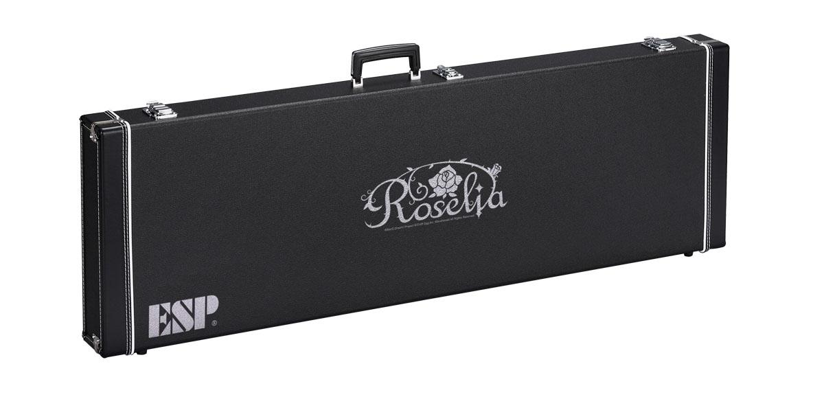 ESP×バンドリ! ロゼリアのロゴ入りハードケース  ESP / ロゼリア ロゴ入りハードケース HC-400 ROSELIA-B (BTL LISA バンドリ! 今井リサ Model 専用) 《予約注文/受注生産品/納期約4カ月~》