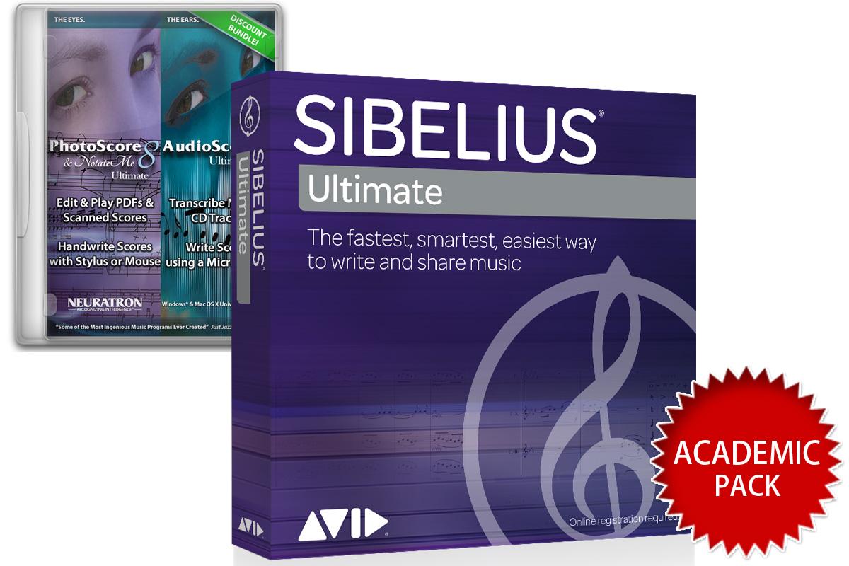 AVID アビッド / Sibelius Ultimate PhotoScore & AudioScore バンドル アカデミック版【永続ライセンス】【お取り寄せ商品】