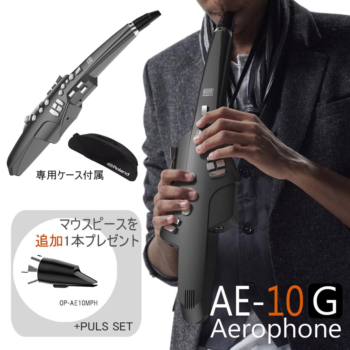 【在庫あり】Roland ローランド / Aerophone AE-10G グラファイトブラック エアロフォン 《交換用マウスピースプレゼント》【送料無料】【YRK】