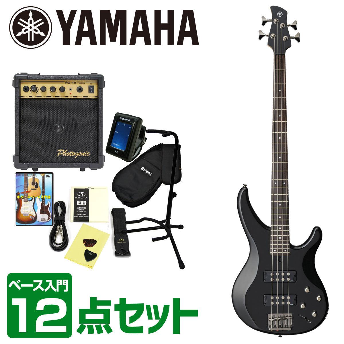 YAMAHA ヤマハ / TRBX304 BL 【エレキベース入門12点セット】初心者 入門セット ベース初心者