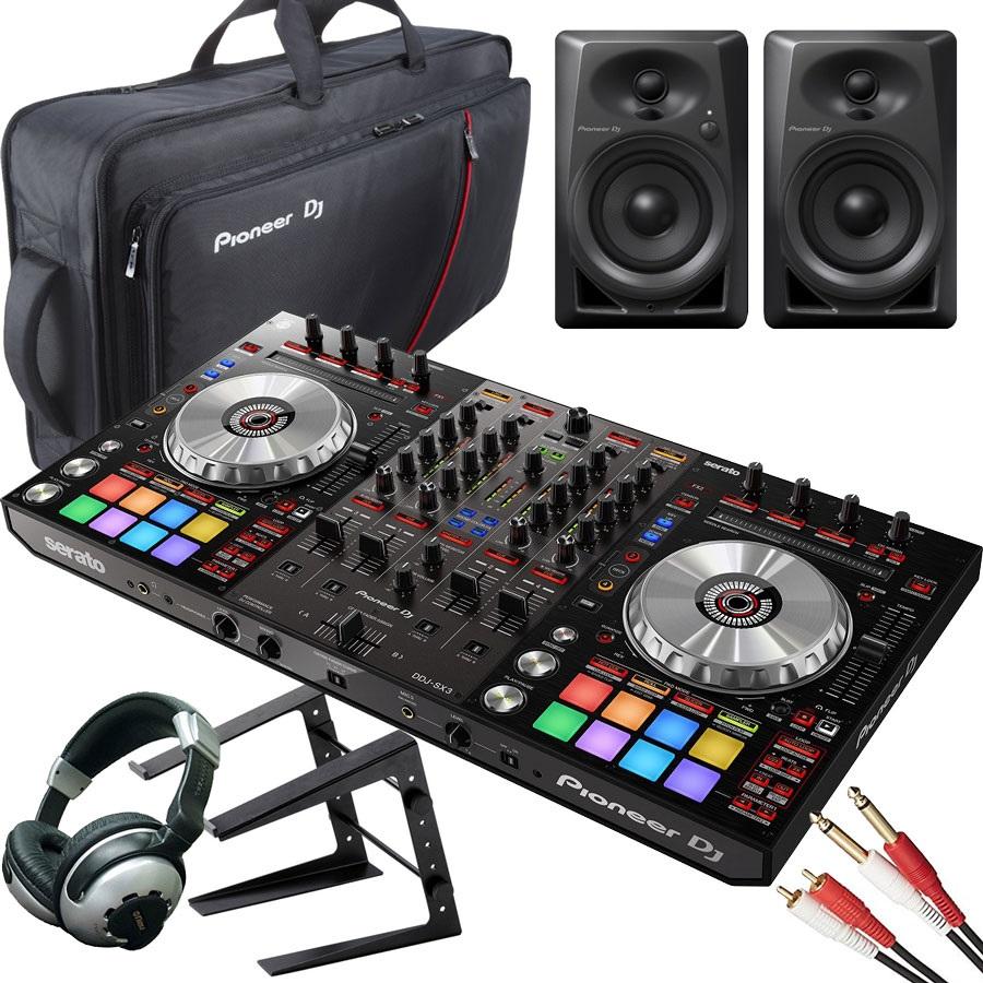 Pioneer パイオニア / DDJ-SX3 【モニターセット】 DJコントローラー【PNG】