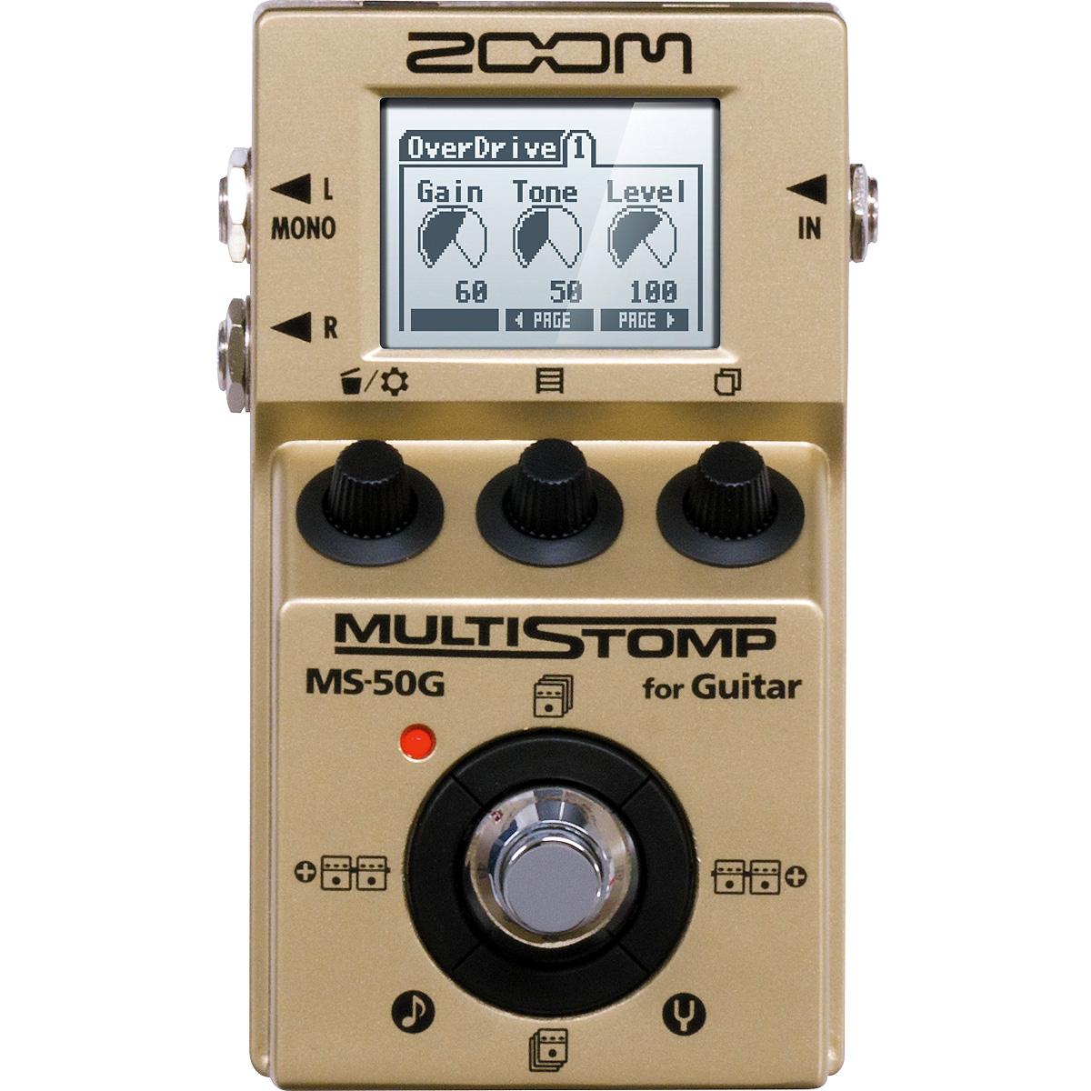 ZOOM / MS-50G-I MultiStomp Guitar Pedal Gold Limited 《予約注文/7月3日発売予定》【限定生産モデル】