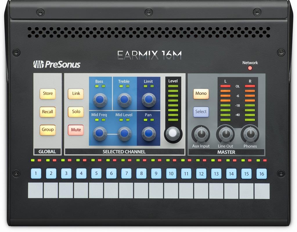 PreSonus プリソナス / EarMix 16M AVBネットワーク・パーソナル・モニター・ミキサー【お取り寄せ商品】