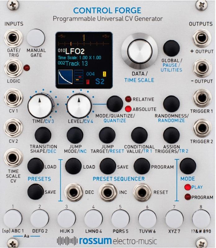 Rossum Electro-Music / Control Forge CVジェネレーター・モジュール【お取り寄せ商品】