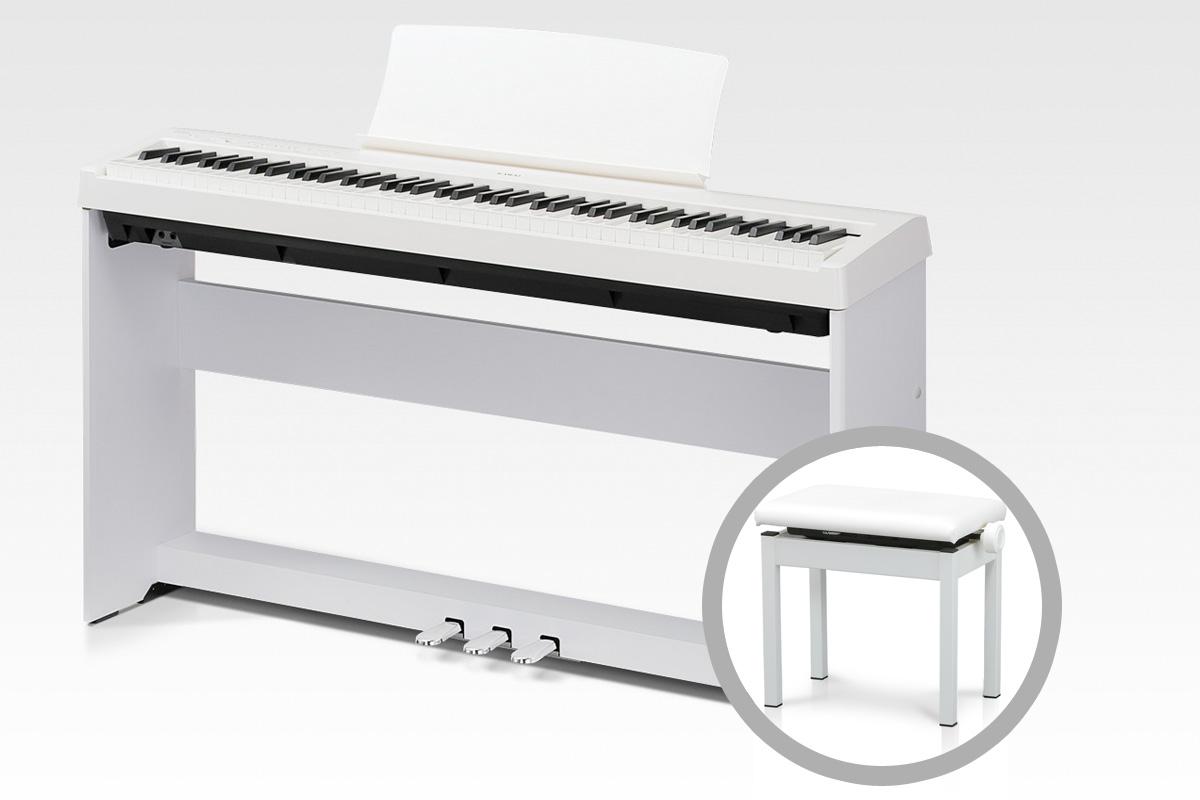 KAWAI カワイ / ES110W ホワイト【オプションセット】スタイリッシュピアノ【全国組立設置無料】【代引き不可】