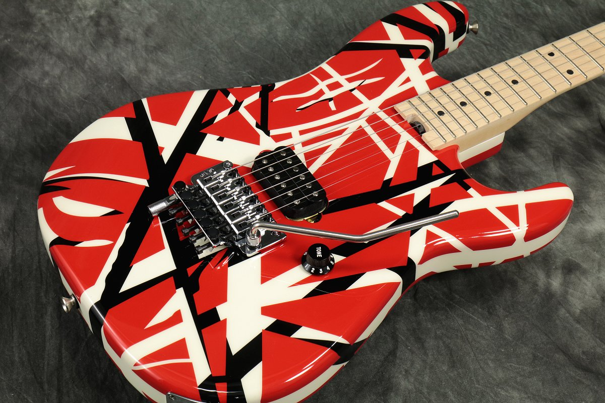 EVH / Striped Series Red with Black Stripes イーブイエイチ ストライプド