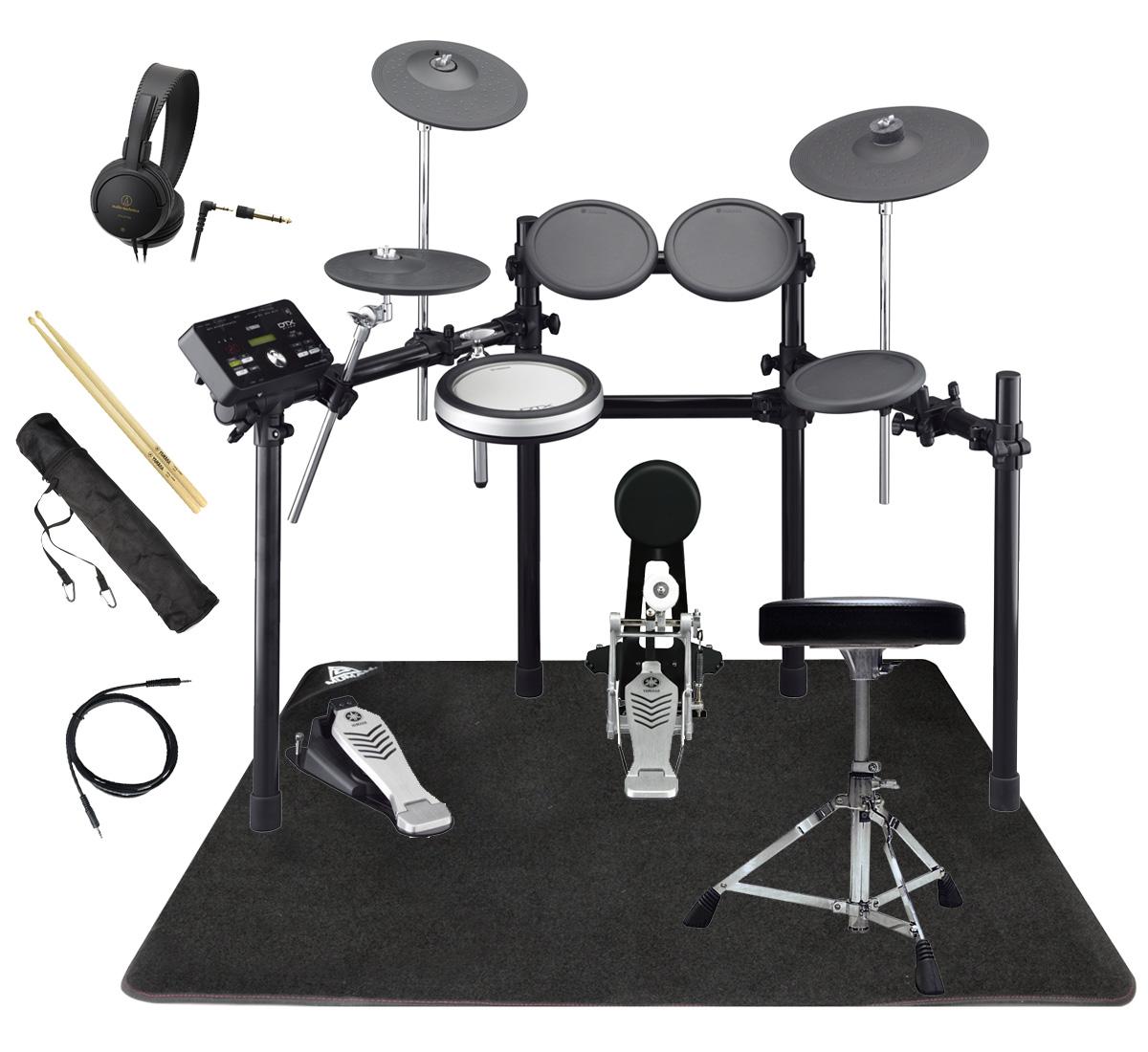 YAMAHA 電子ドラム DTX522KFS オリジナルスターターパック マット付き【YRK】