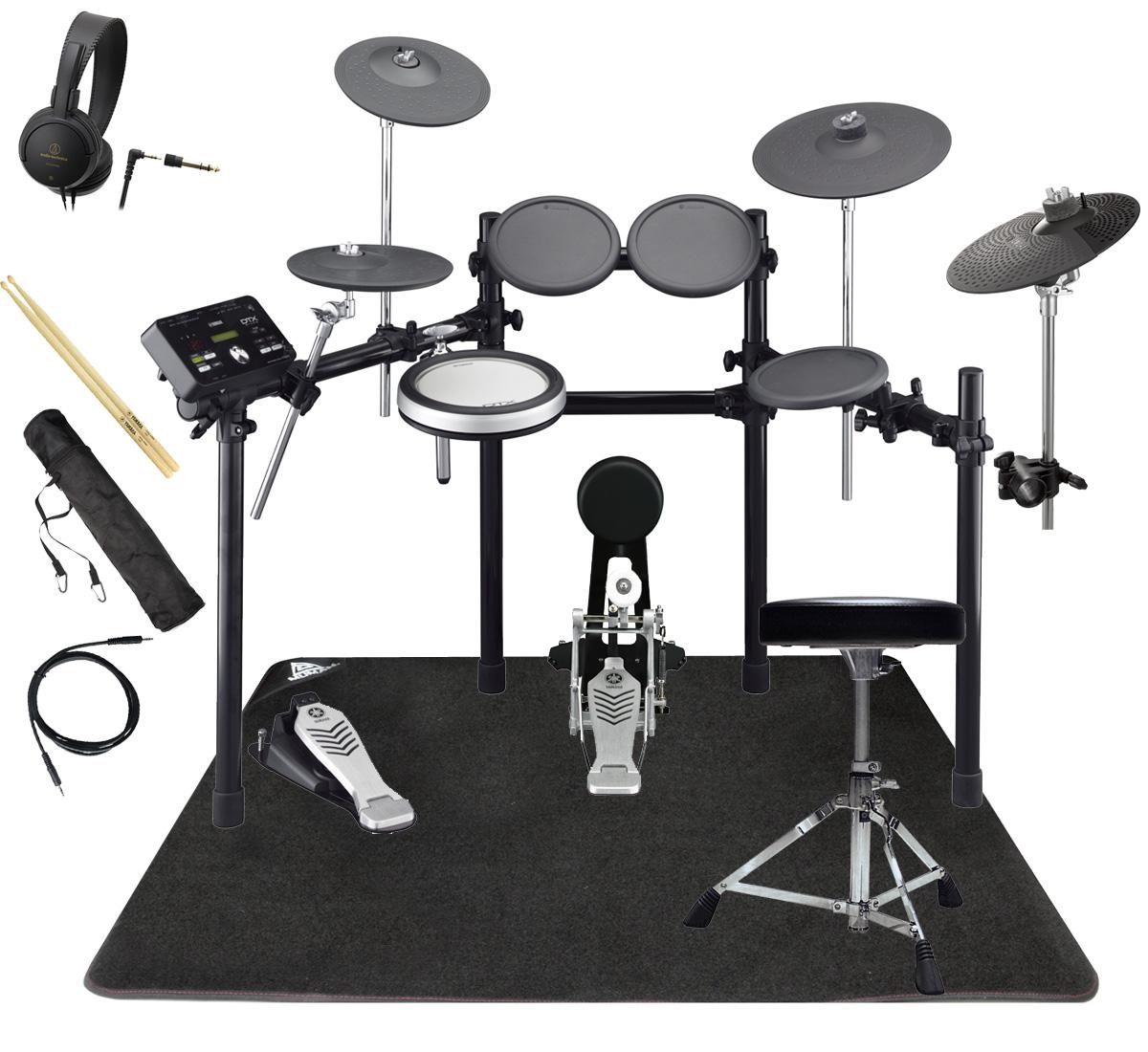 YAMAHA 電子ドラム DTX522KFS 3シンバル オリジナルスターターパック マット付き【YRK】