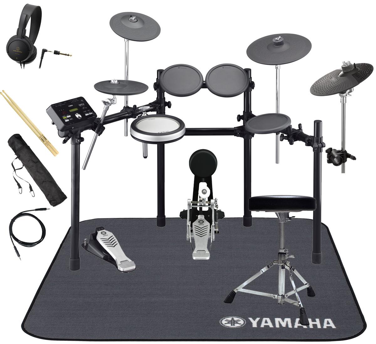 YAMAHA 電子ドラム DTX522KFS 3シンバル オリジナルスターターパック 純正マット付き【YRK】
