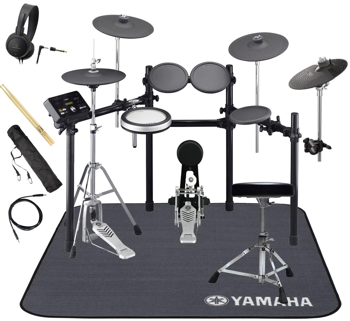 YAMAHA 電子ドラム DTX532KFS 3シンバル オリジナルスターターパック 純正マットセット【YRK】