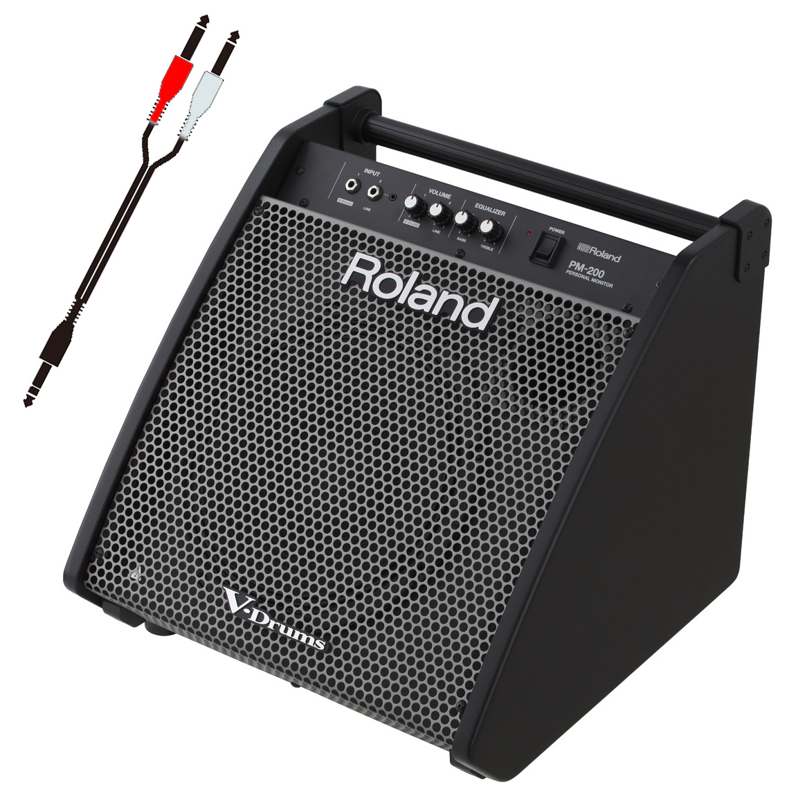 Roland 電子ドラム用モニタースピーカー PM-200 接続ケーブルセット【YRK】