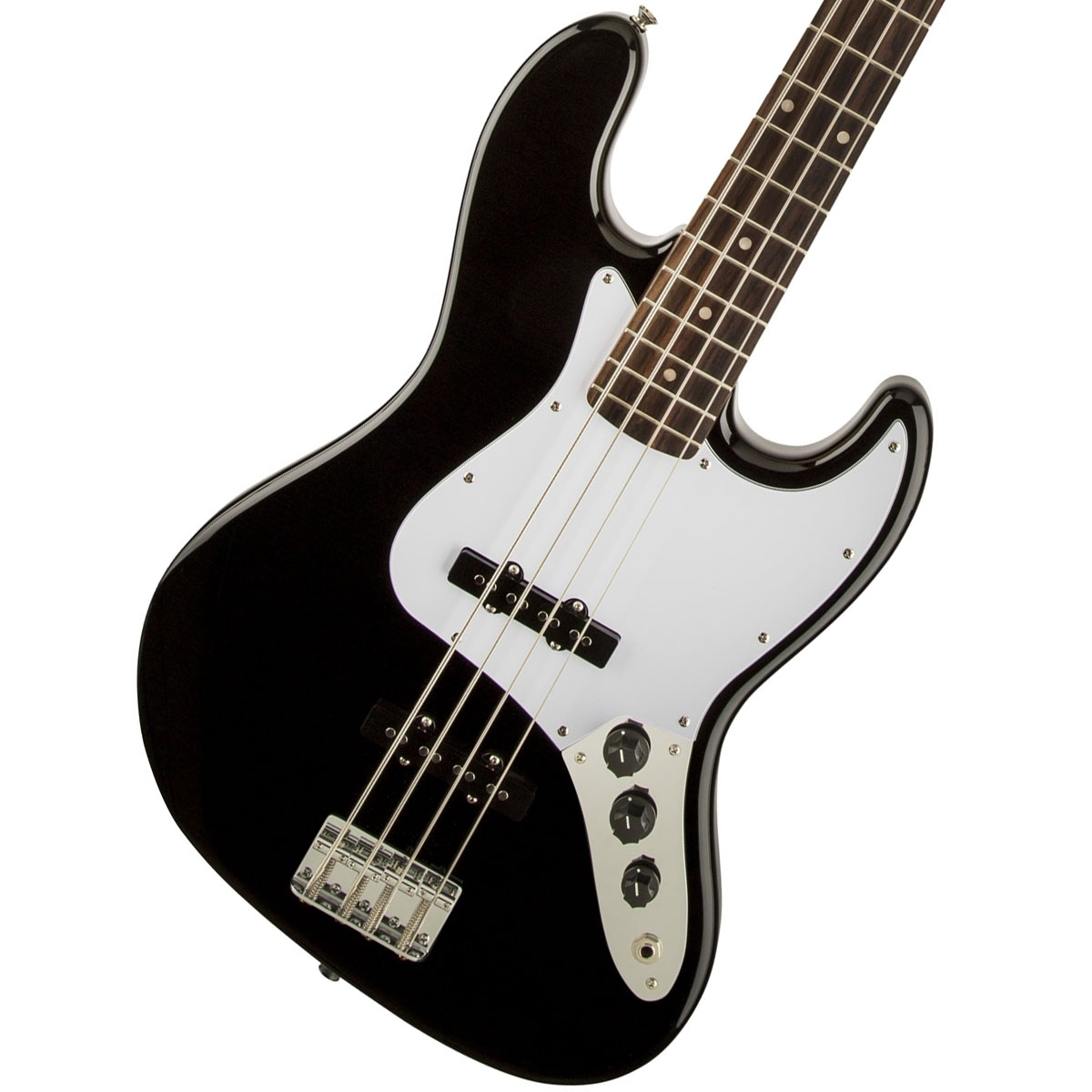 【タイムセール:29日12時まで】Squier by Fender / Affinity Jazz Bass Black Indian Laurel《純正バレットチューナープレゼント!/+621153790》