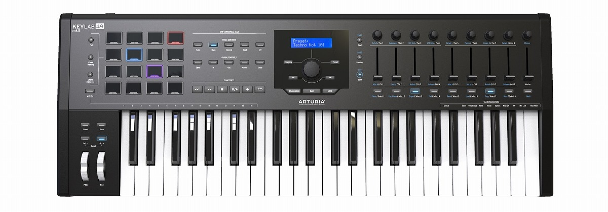ARTURIA アートリア / KeyLab49 MKII BK (ブラック) 49鍵盤MIDIコントローラー・キーボード