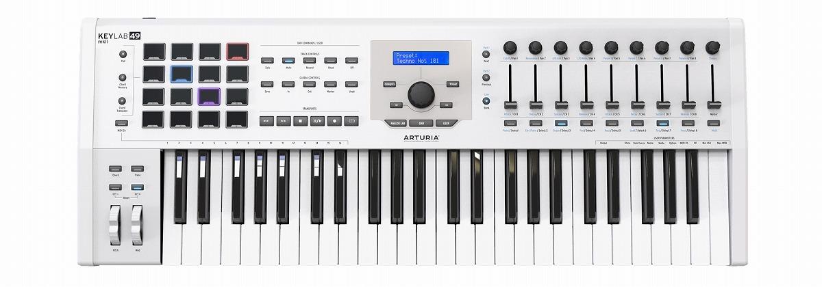 ARTURIA アートリア / KeyLab49 MKII WH (ホワイト) 49鍵盤MIDIコントローラー・キーボード
