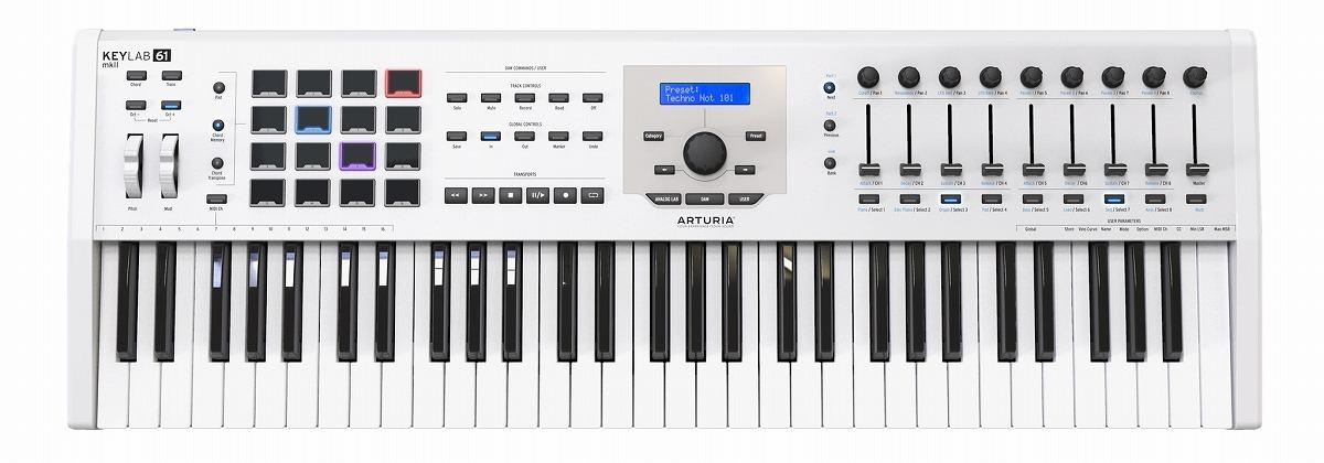 ARTURIA アートリア / KeyLab61 MKII WH (ホワイト) 61鍵盤MIDIコントローラー・キーボード