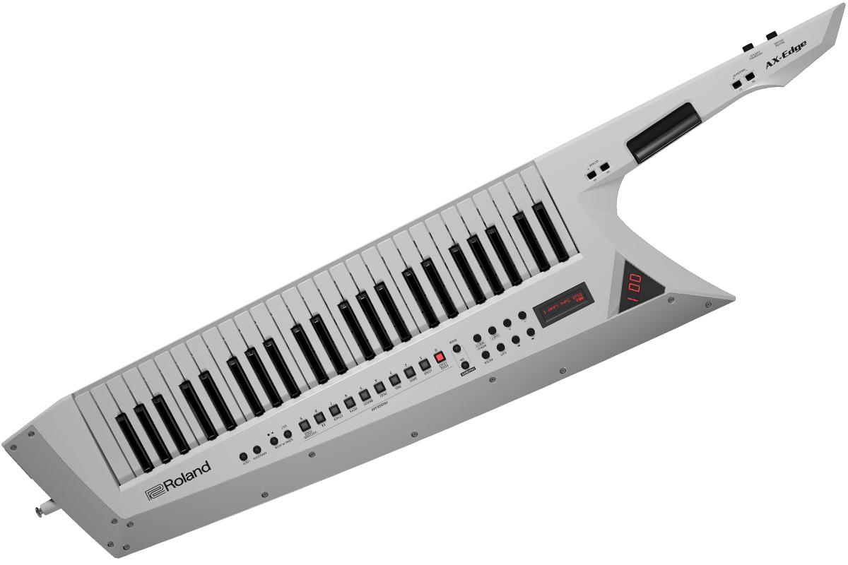 【在庫あり】Roland ローランド / AX-EDGE-W (ホワイト) 49鍵盤キーター ショルダーシンセ ショルダーキーボード【YRK】